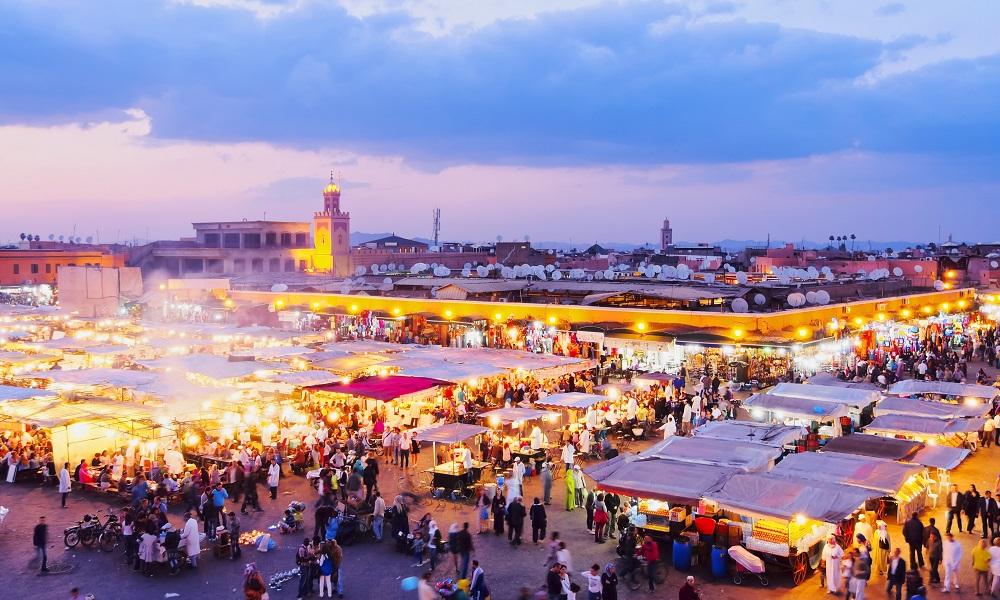 Djemaa el Fna plein Marrakech