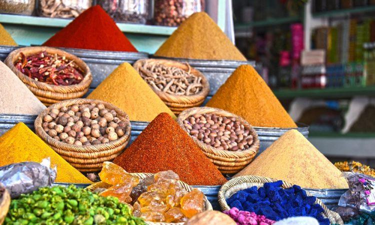 Kruiden op markt Marrakech