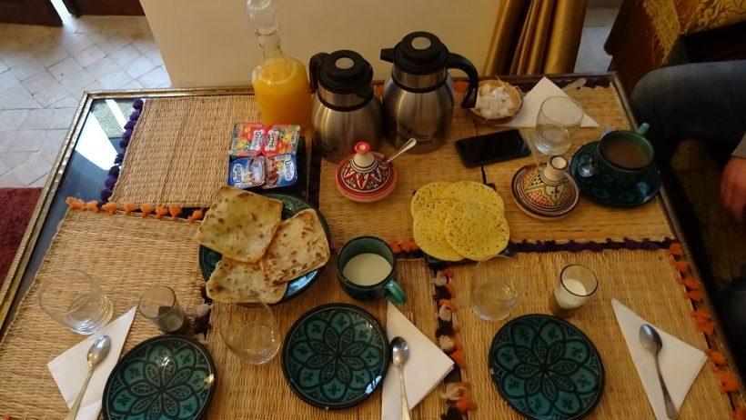Ontbijt Riad Marrakech