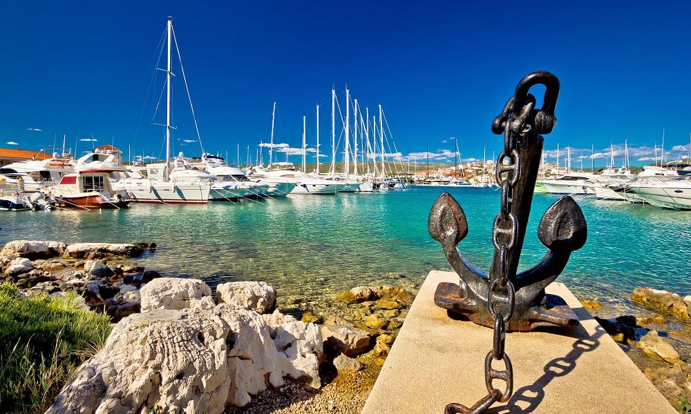 Rogoznica havenstad Dalmatië