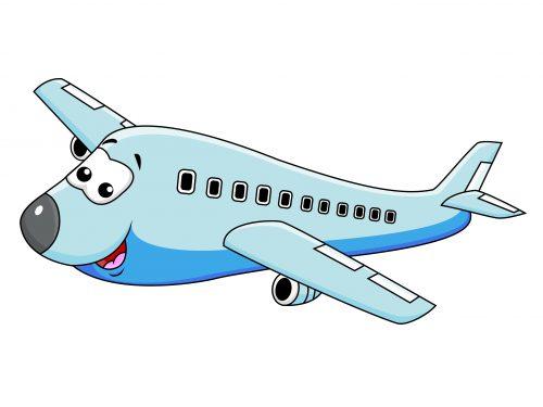 Vliegtuig stripfiguur