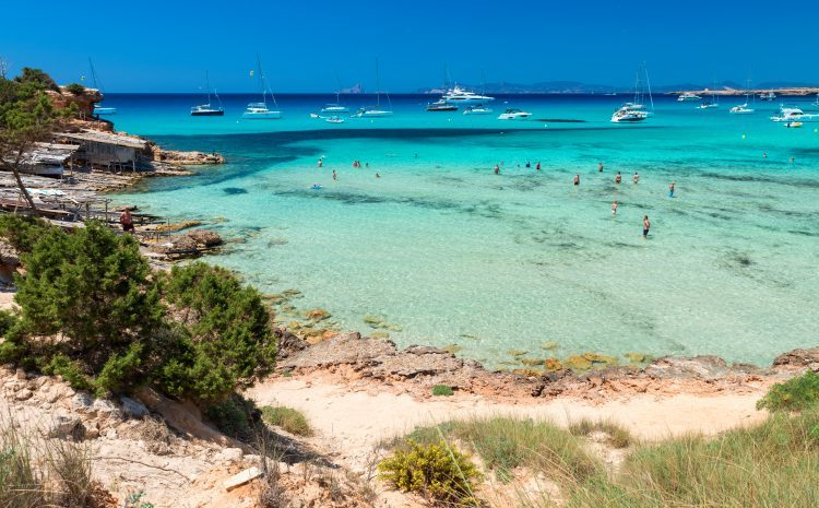 Cala Saona beach in Formentera