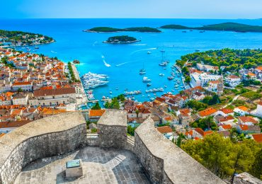Hvar stad in Kroatie - Dalmatie